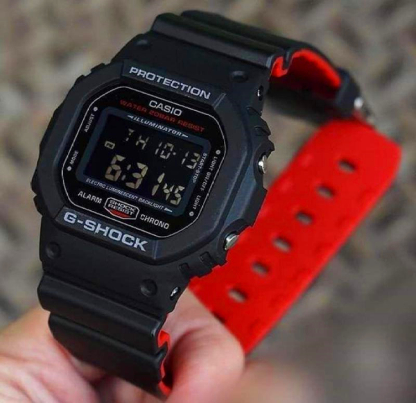 (In Stock) Best Selling Original  G Shock 5035D-1B35th Anniversary Black Resin Strap Digital Watch Limited Edition D Malaysia
