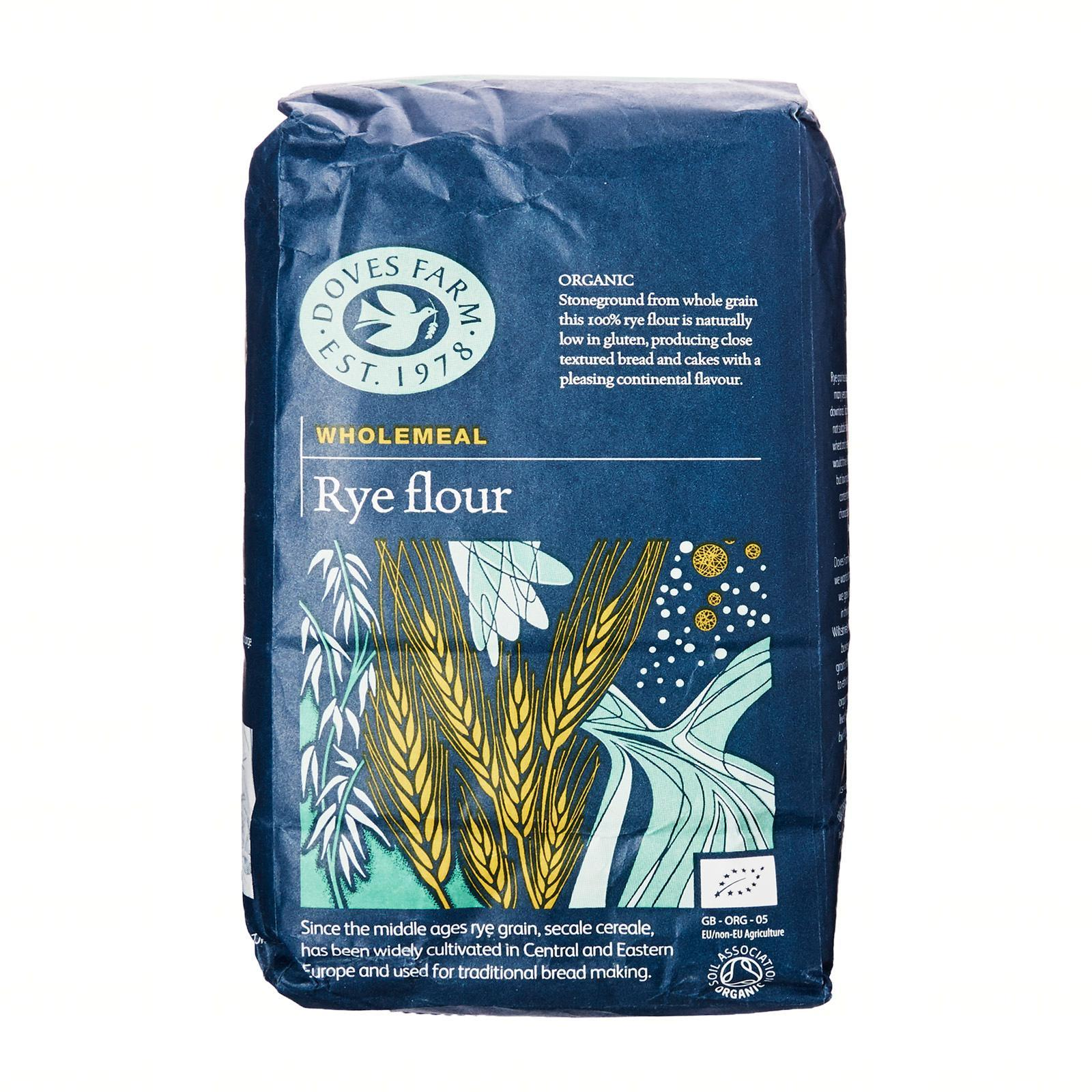 Doves Farm Organic Rye (1Kg) - By Wholesome Harvest