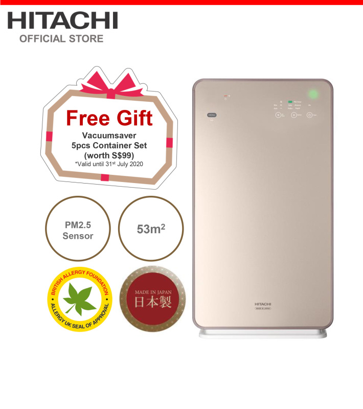 Made In Japan, Hitachi Air Purifier, PM2.5 Sensor, 53 metre square, EP-NZG70J Singapore