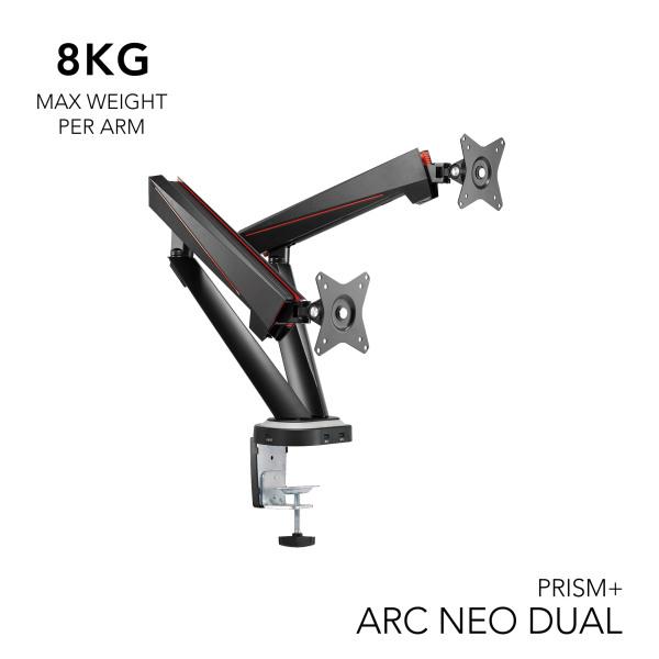 PRISM+ ARC NEO Dual Monitor VESA RGB Monitor Arm