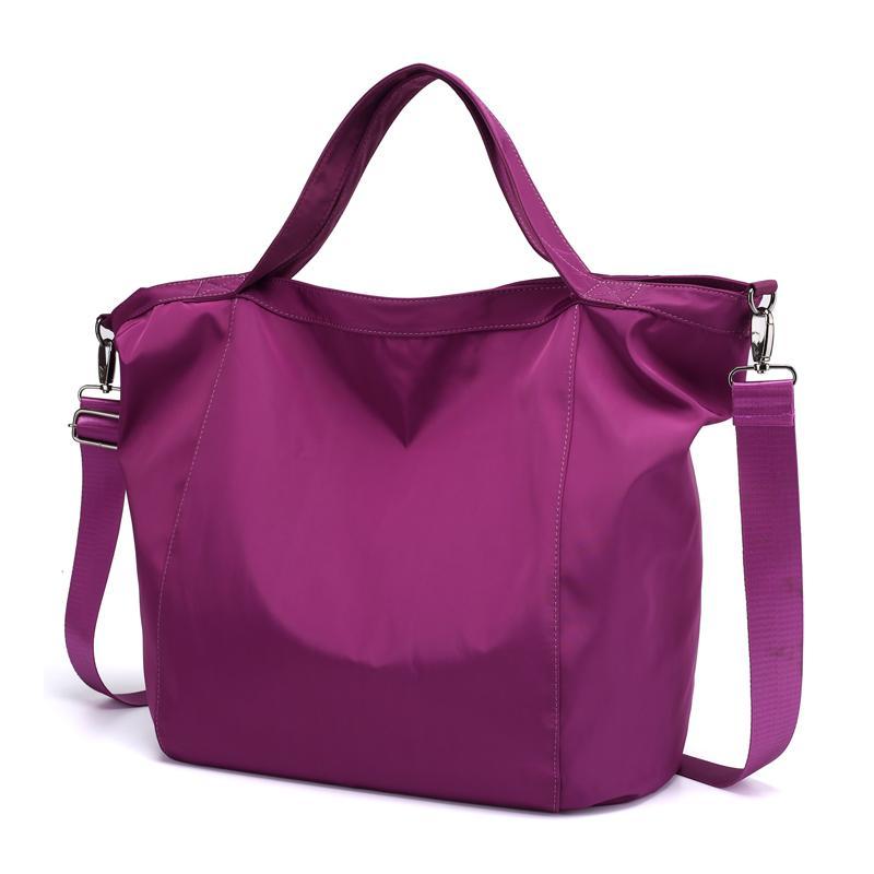 Waterproof Nylon Jielangshi Shoulder Bag Large Capacity Shoulder Bag Leisure Travel Handbag Oxford B: Big Book Bags