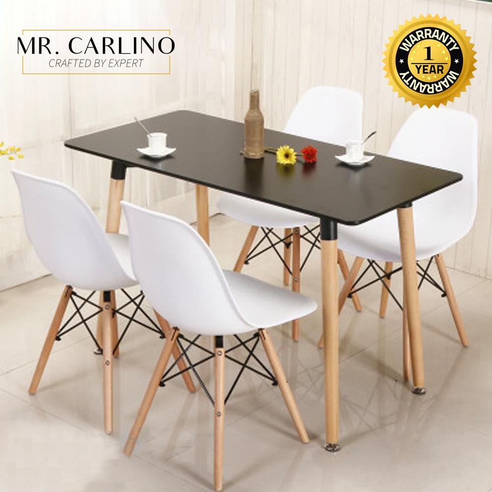 LOWRY Dining Set with 4 Creative LOWRY Chairs