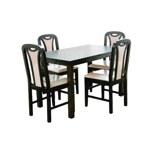[A-STAR] SOLID WOOD Cushion Dining Set in Walnut (1+6)