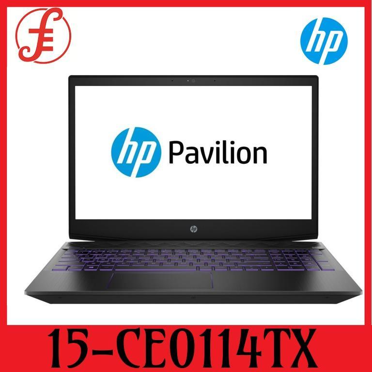HP 15-CX0114TX PAVILION GAMING NOTEBOOK 15-cx0114TX I7-8750H / 8GB / 256GB+1TB / 15.6 FHD IPS / NVIDIA GTX1060 3GB / WINDOW 10 (15-CX0114TX)