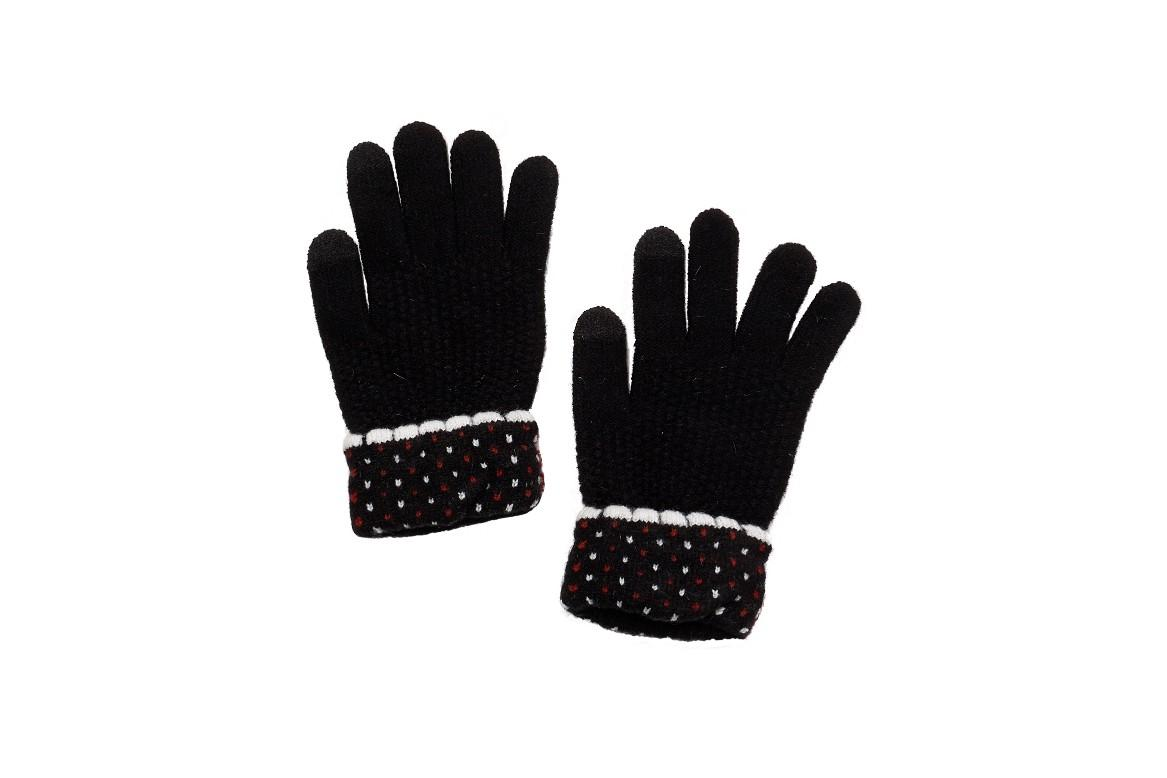 adae56f41 Universal Traveller Women Touch Screen Polka Dot Knit Gloves with Folded  Cuff - GVC8219W