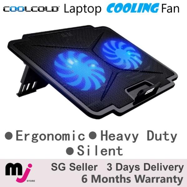 Coolcold Dual Fan Laptop Cooling Fan Cooling Pad Laptop Cooler Silent Ergonomic Laptop Stand