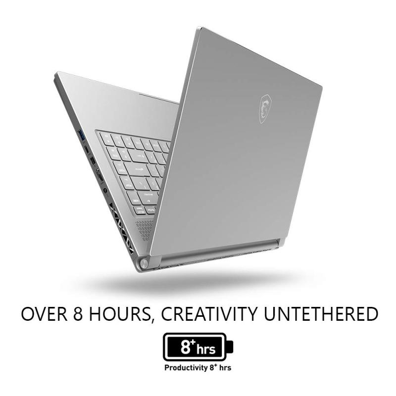 MSI P65 Creator 8RD-021 Thin Bezel Gaming/ Productivity Laptop 15.6  100% sRGB Display GTX 1050TI 4G i7-8750H 16GB 256GB NVMe SSD Win 10 PRO, Aluminum Silver