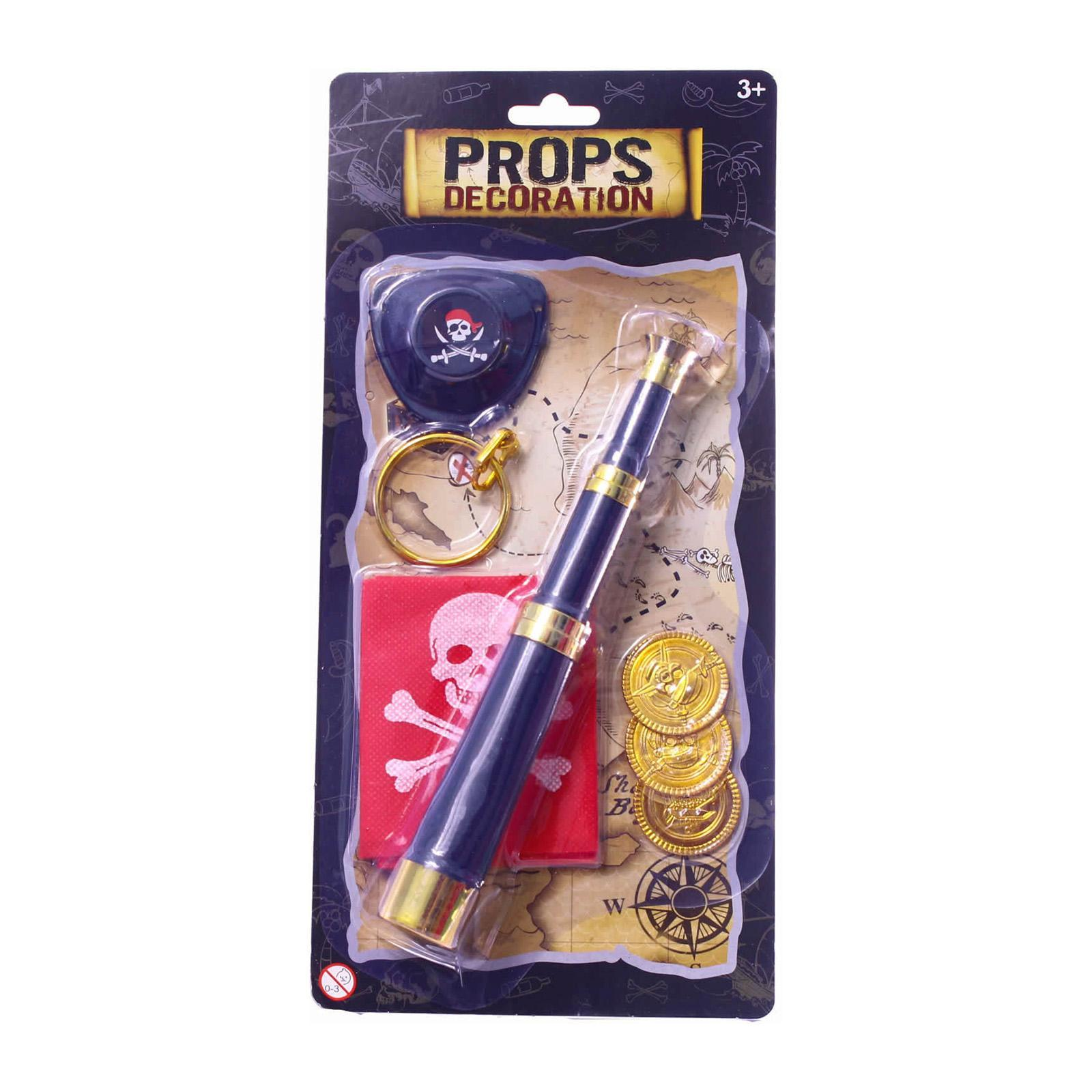 Partyforte Halloween 7pc All You Need To Be a Pirate Costume Accessory Set