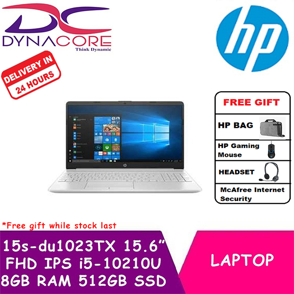 **【WITH IN 24hr DELIVERY】**DYNACORE - HP Laptop / Notebook 15s-du1023TX | 15.6 FHD IPS | i5-10210U | 8GB DDR4 RAM | 512GB PCIe SSD | Geforce MX130-2GDR5 | Win10 home | 1Year HP Onsite Warranty