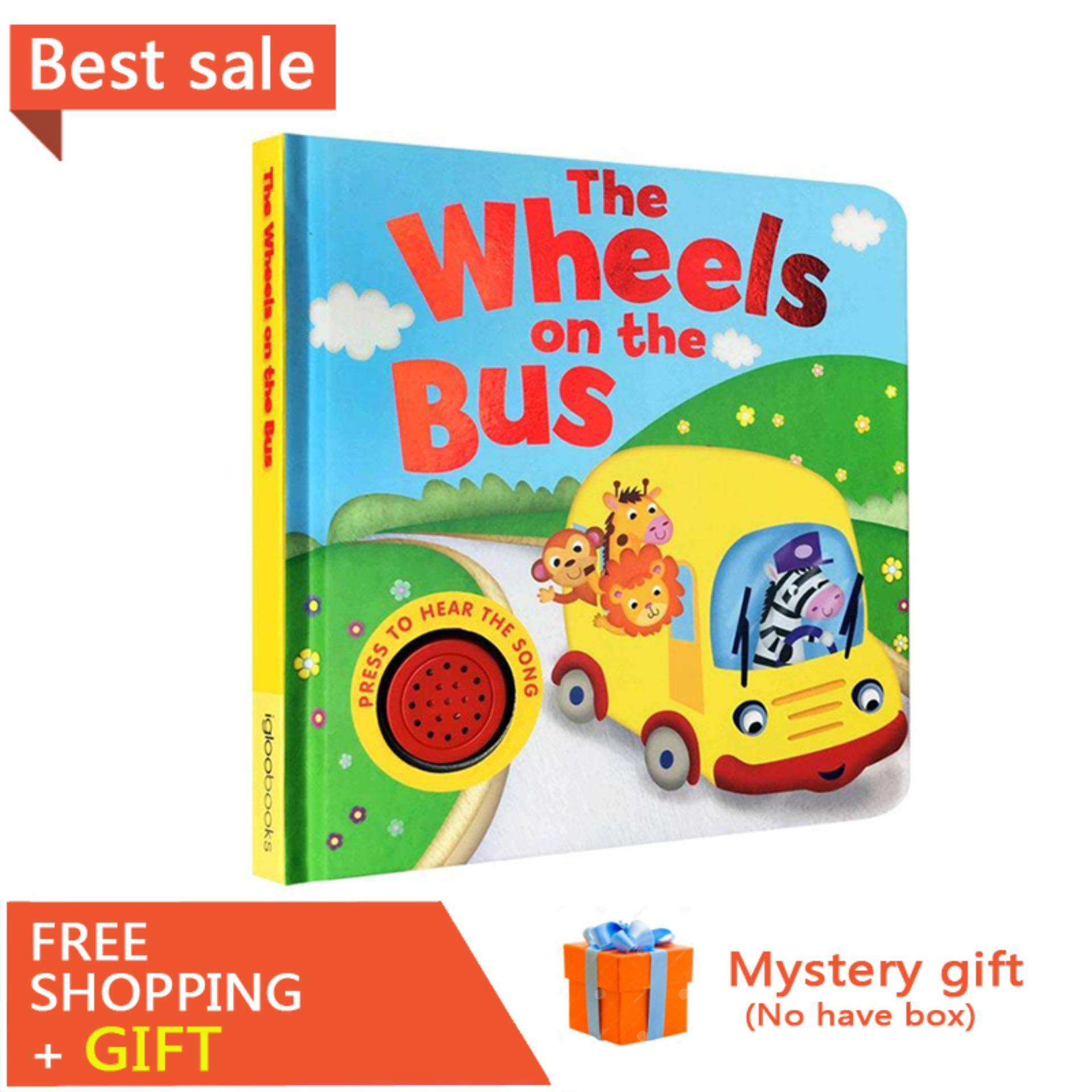 Original English Books Song Sounds The Wheels on The Bus Sound Book Board Book 0-6 Years Old Children Educational Toy