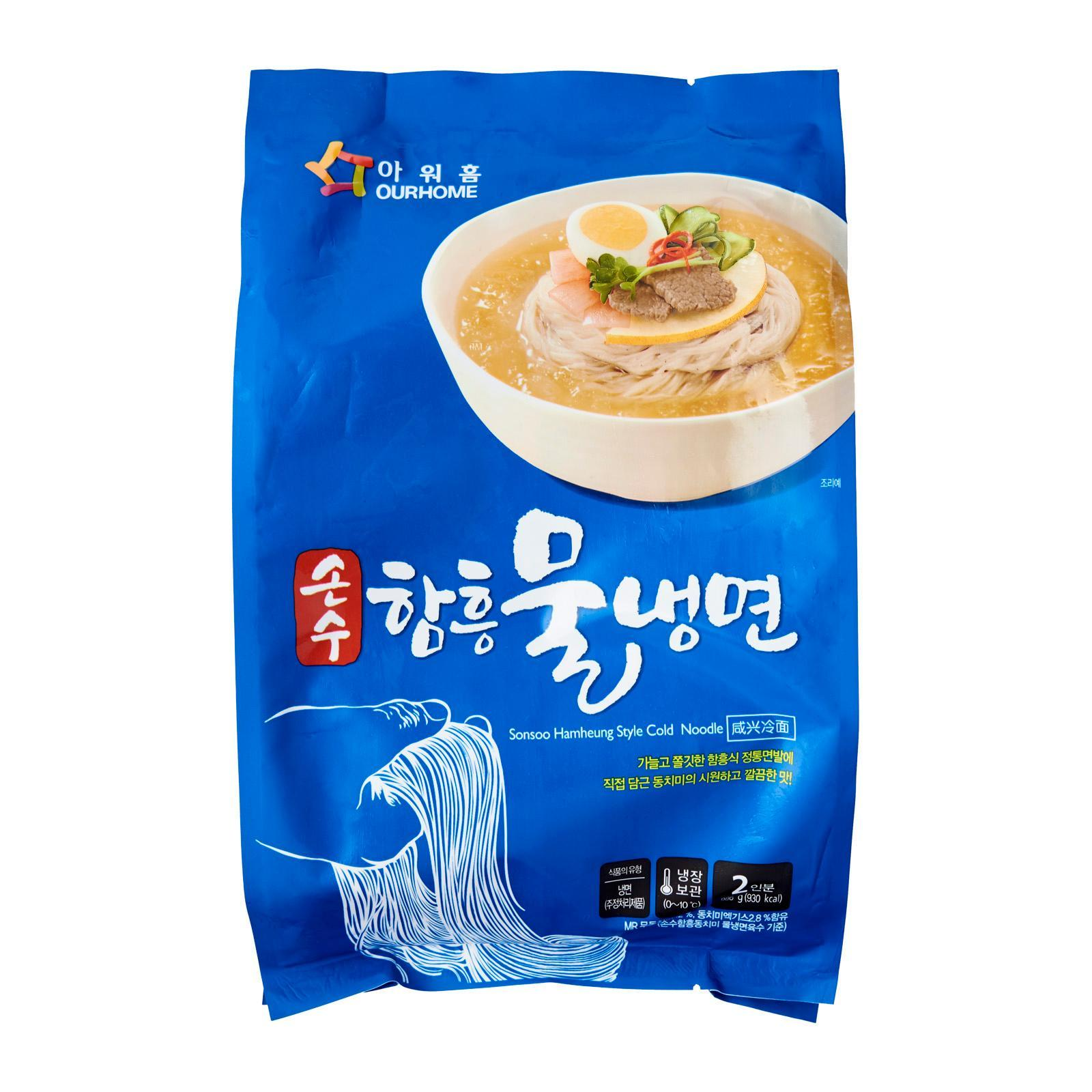 Ourhome Korean Style Cold Noodles - Frozen -Korea