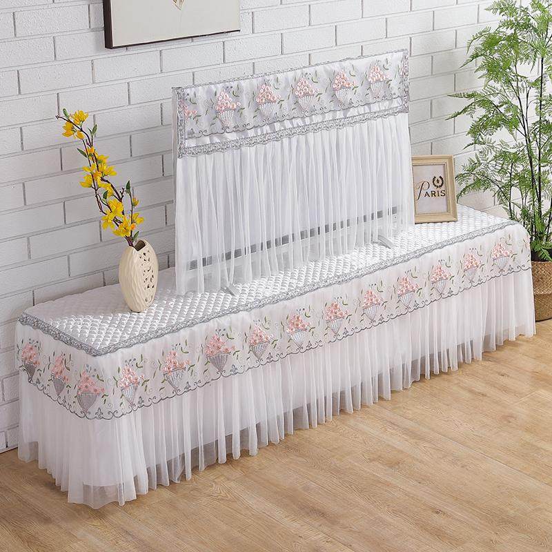 Dianyuansu shi zhao Dust Cover Case Household Lace Fabric TV Dustproof Cloth TV Cabinets Cover Cloth Rectangular Tablecloth