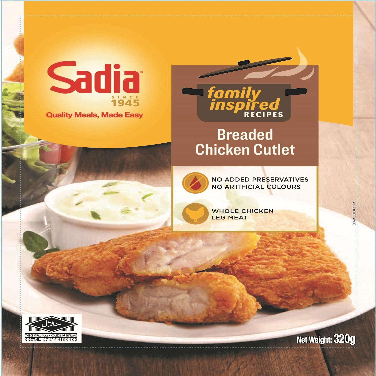 Sadia Breaded Chicken Cutlet - Frozen and Fully Cooked