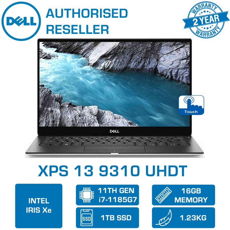 DELL XPS 13 9310 UHDT (i7-1185G7 | 16GB | 1TB M.2 NVMe SSD | INTEL IRIS Xe | WIN10 HOME | 13.4 4K TOUCH DISPLAY UHDT) 2YR WARRANTY BY DELL