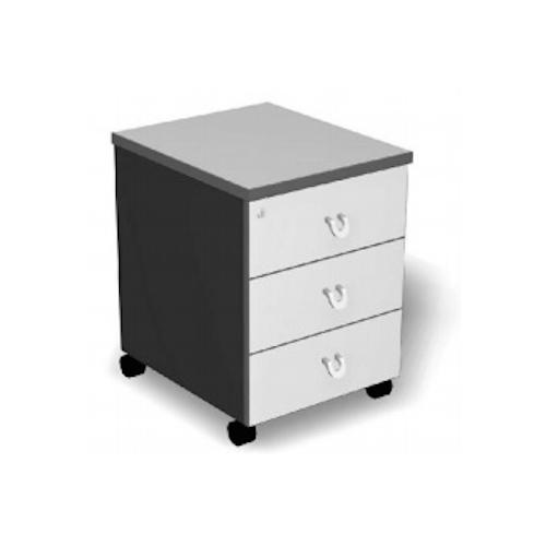 Mobile 3 Drawers with lock  Baycus Mobile Pedestal with 3 Drawers (Grey)  Office Mobile Drawers