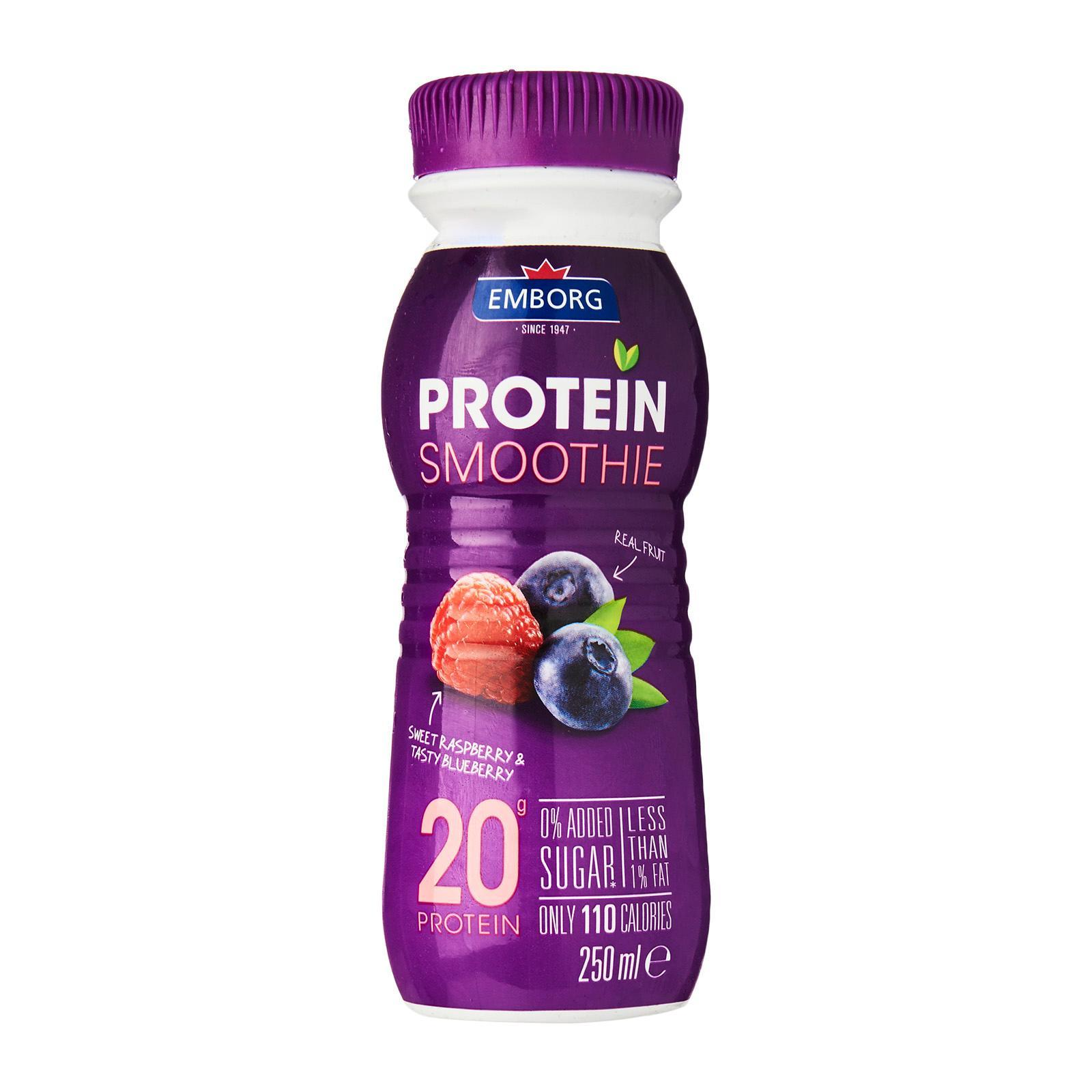 EMBORG Protein Smoothie Raspberry & Blueberry 250ml