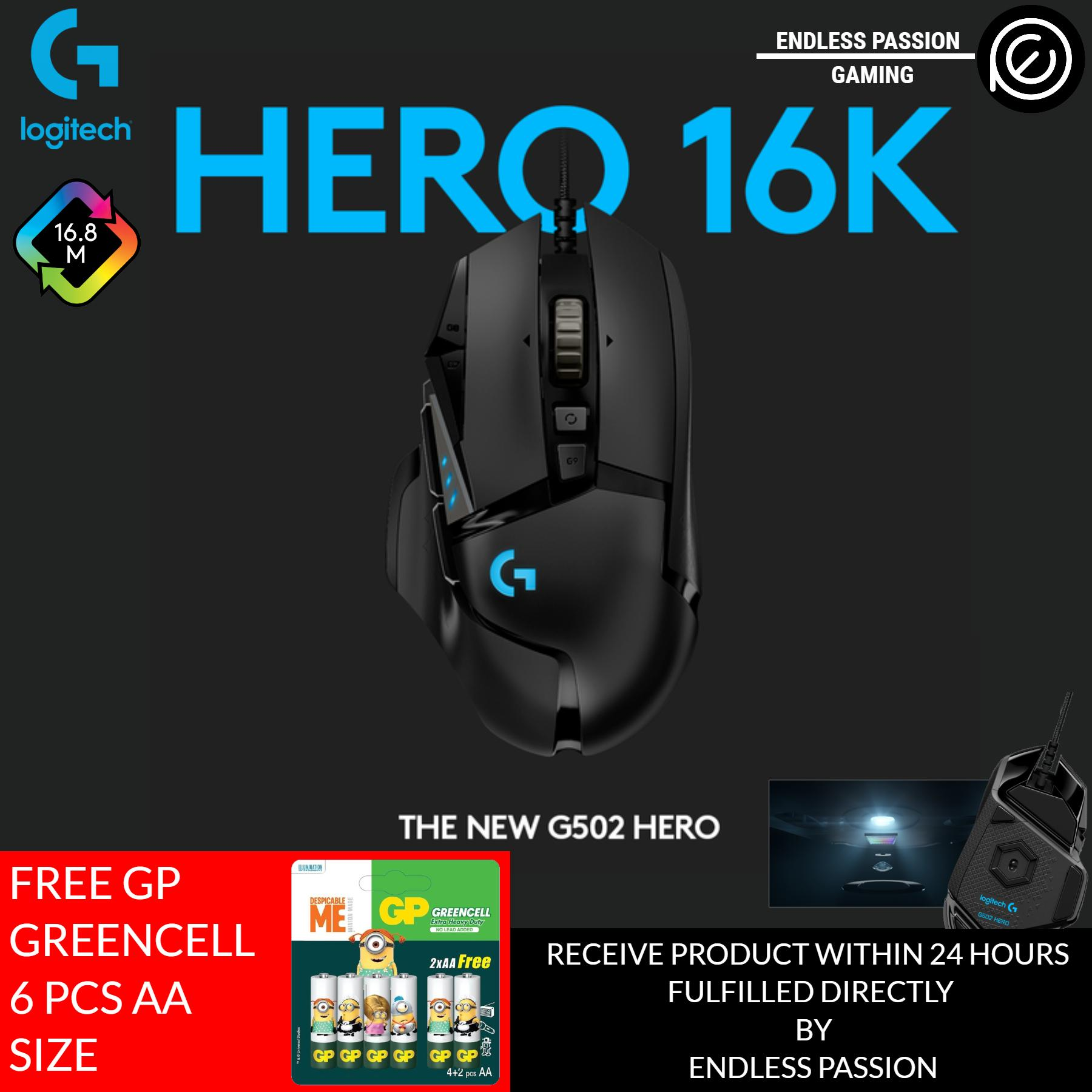 Logitech G502 HERO RGB Tunable with 11 Programmable Buttons