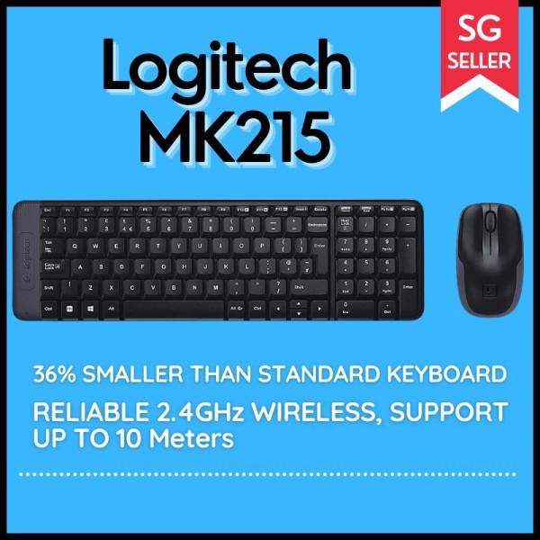 Logitech MK215 Wireless Keyboard and Mouse Combo, Compact size, Saving Space Singapore