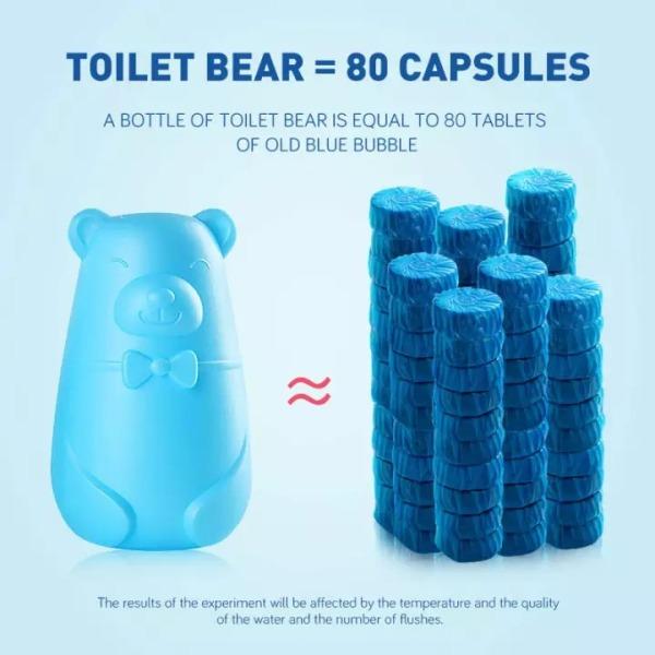 【Local Ready Stocks】♥3 Pcs Bear Blue Bubble Toilet cleaner ♥Deodorant Toilet Bowl ♥Magic Automatic Flush Deep Clean The Dirt Of the Toilet Bowl♥