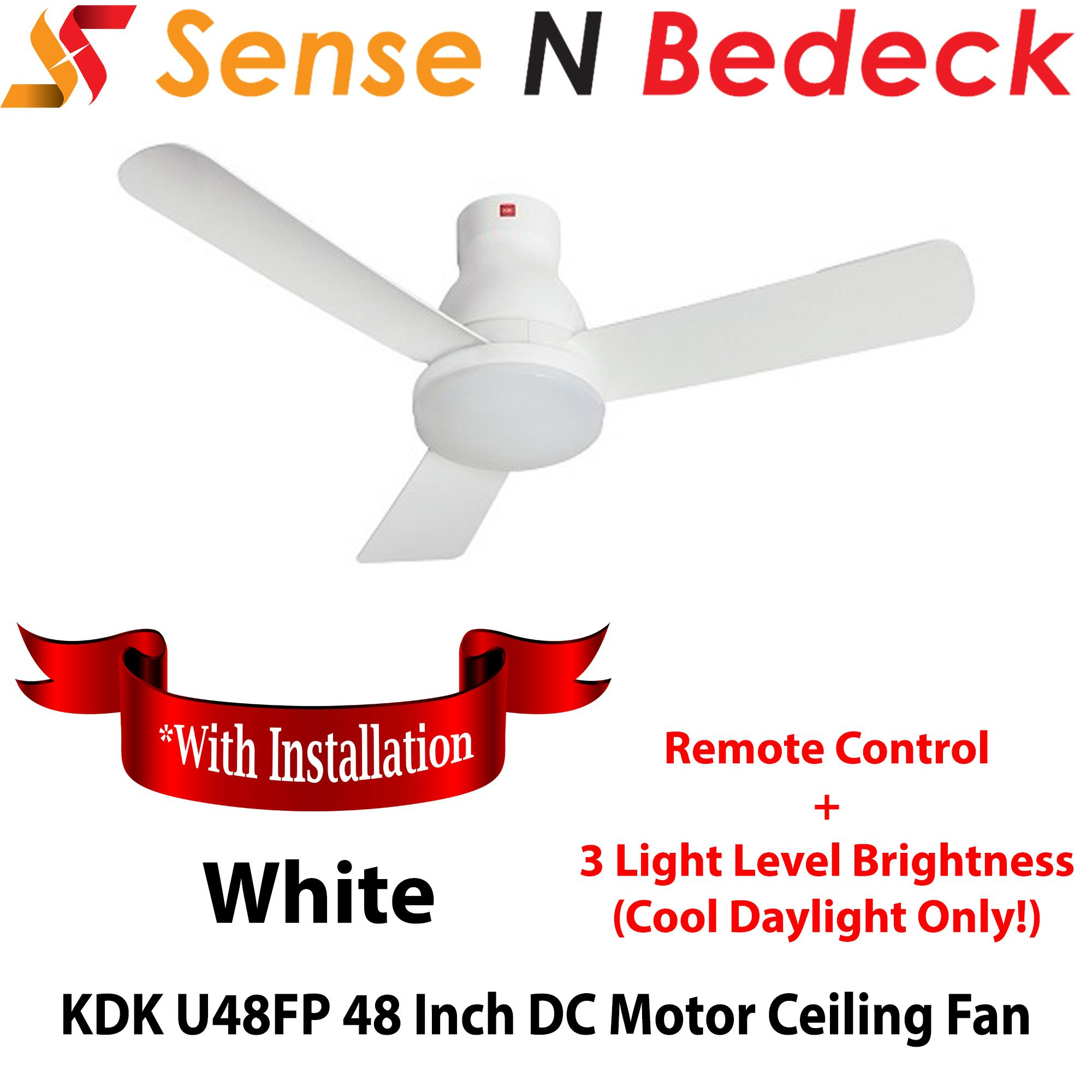 KDK U48FP 48 Inch LED DC Motor Ceiling Fan *With installation