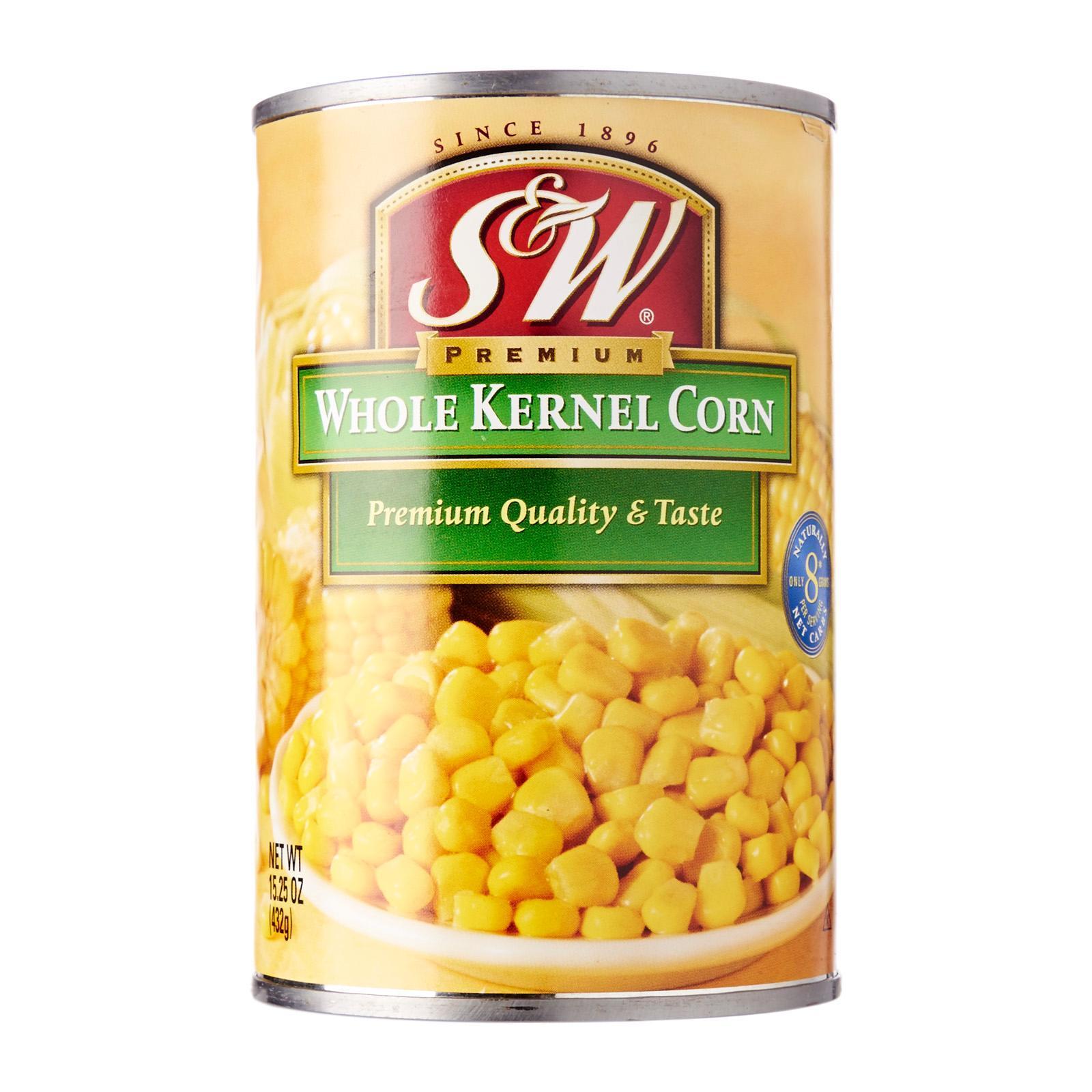 S&w Premium Whole Kernel Corn By Redmart.