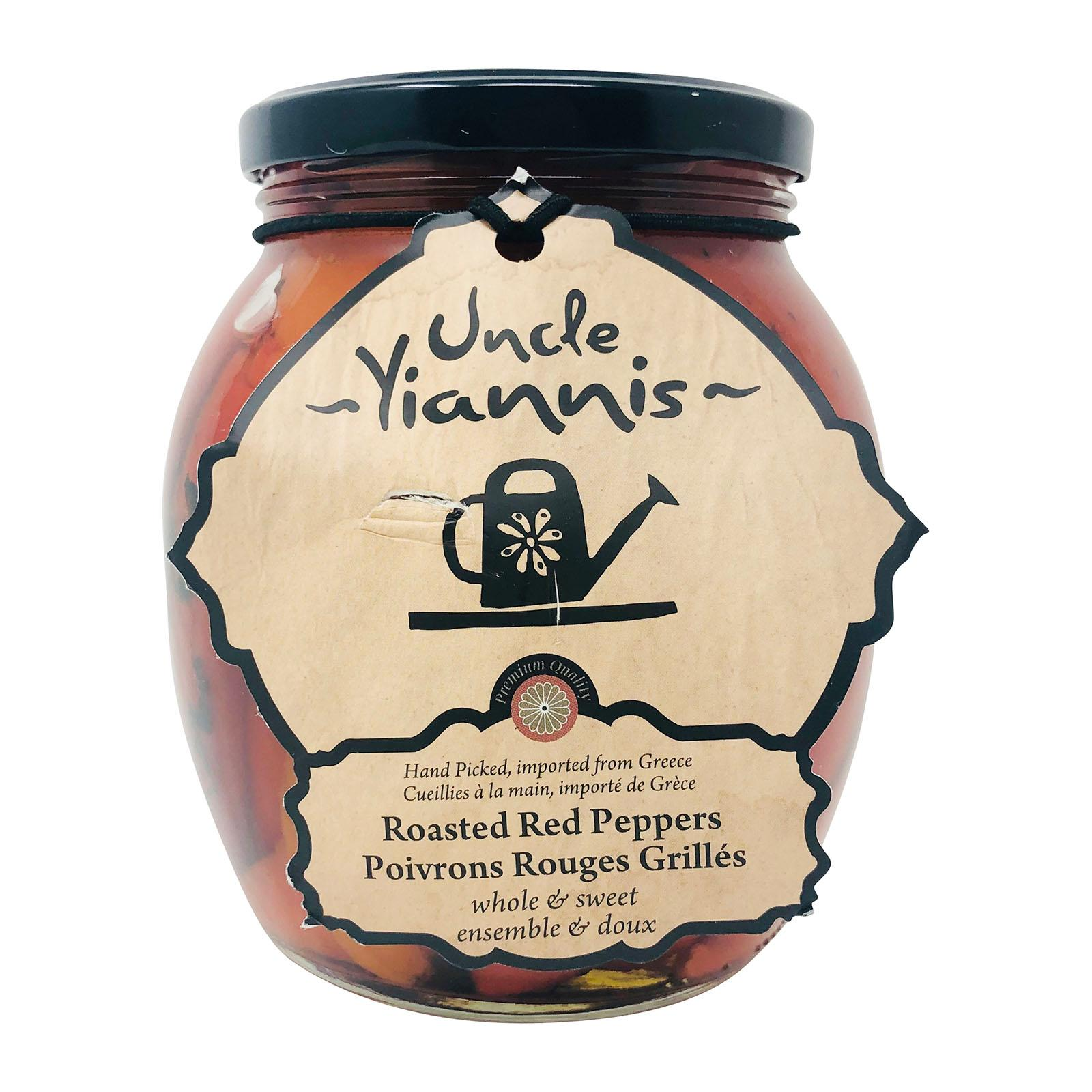 Uncle Yiannis Greek Roasted Red Peppers by Agora Products