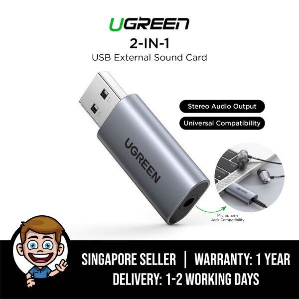 UGREEN 2-in-1 USB External Sound Card for Nintendo Switch, Microsoft Surface GO, MicroSoft Surface Pro 7, PS4 USB Audio Adapter Singapore