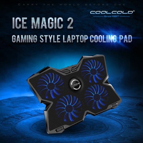 Cool Cold Ice Troll 2 15-17 Inch Gaming Laptop Cooling Stand Powerful Pad with 4 fan