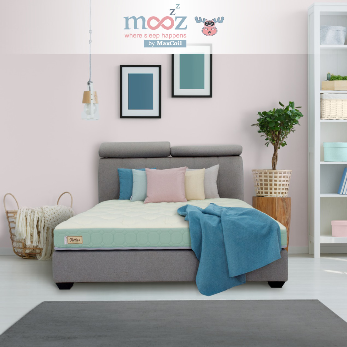 mooZzz Fillis 4inch, 6inch and 8inch Foam Mattress | Available in Single, Super Single, Queen and King