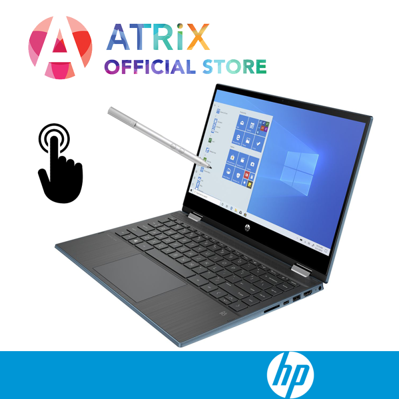 【Same Day Delivery】HP Pavilion x360 Laptop - 14-dw0056tu 2-1 Convertible | 14inch FHD | 8GB RAM | 512GB SSD | 10th Gen intel i3-1005G1 | Win10 Home | 1Y HP onsite warranty