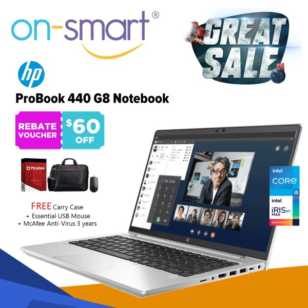 【Next Day Delivery】HP ProBook 440 G8 Notebook   Intel Core i5-1135G7   8 GB RAM   512 SSD   Intel Iris Xe Graphics   Windows 10 Pro 64   3 Years Warranty   31P44PA   New Laptop