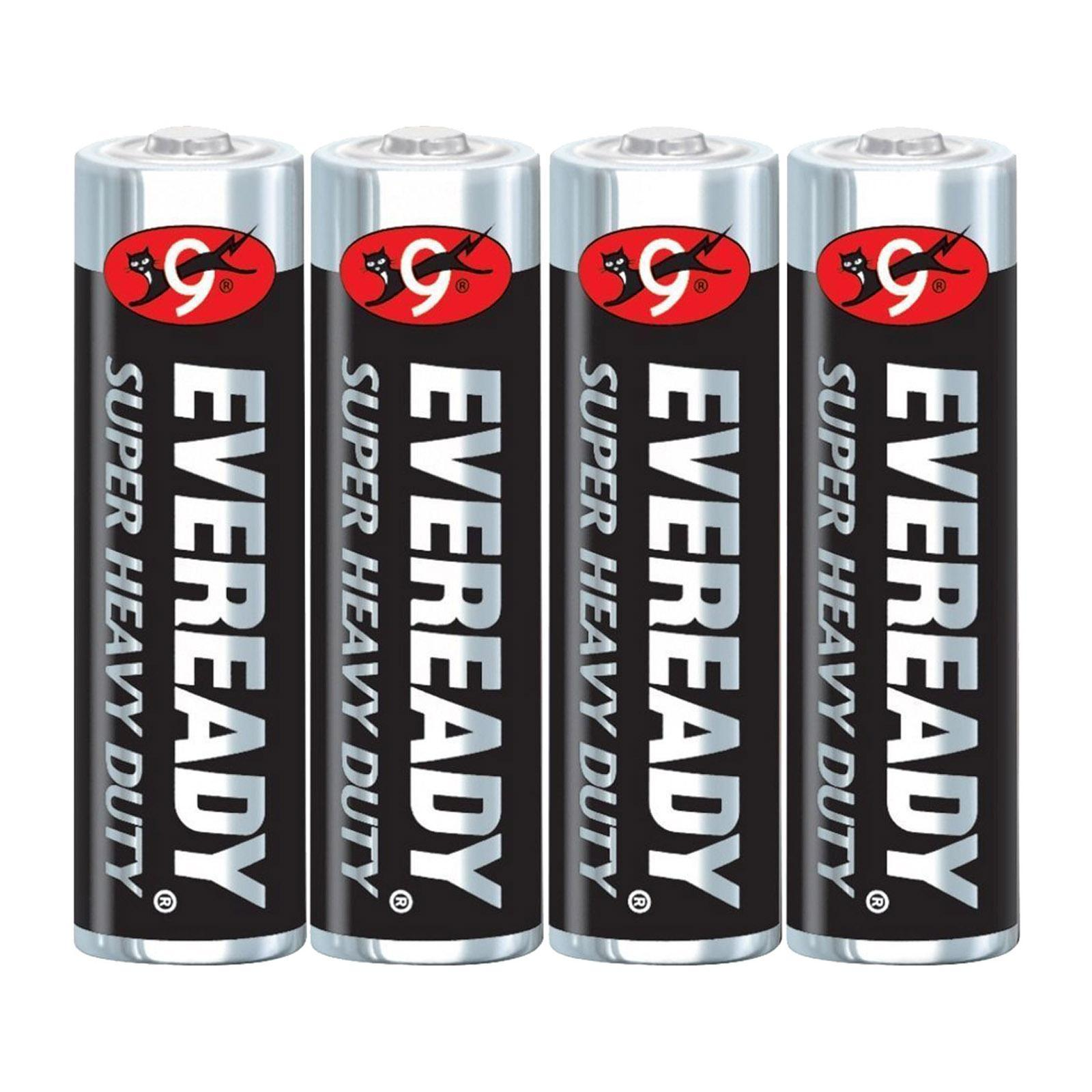 Eveready M1215 Sw4 Carbon Zinc Battery Super Heavy Duty Size:Aa (4Pcs/Pack)