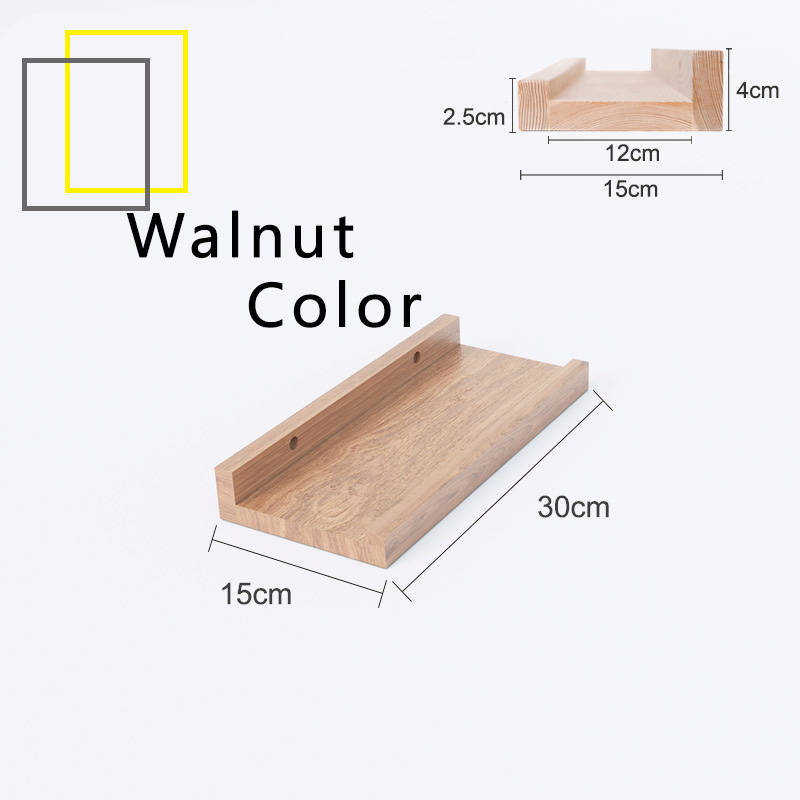 NEW! 15cm Breadth Wall Shelf Storage Organizer Decoration Living Bed Room Space Saver Partition Wood Walnut Coffee Table Zen Design Hanging Bookshelf Flowerpot [2 Weeks Delivery]