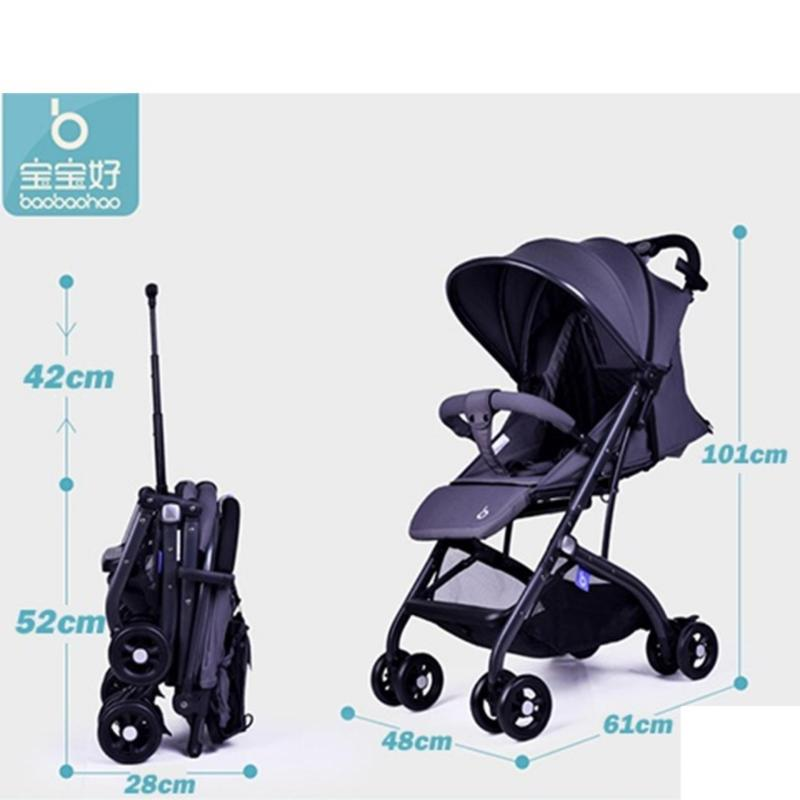 Foldable cabin one hand fold and pull lightweight Baby Stroller baobaohao QZ1 Y1 mini portable plane travel size with new accessories Singapore