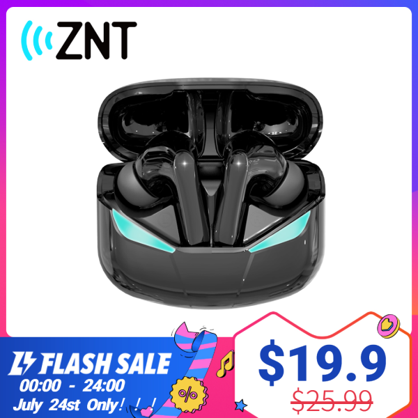 ZNT GameBuds Wireless EarBuds, Game/Music Mode, Bluetooth 5.0 GAMING Wireless Earphones, 65-80ms Low Latency High Cost-Effective Chipset, Superb Deep Bass, Earphone with Mic Microphone, IPX5 Splash Resistance Bluetooth Earphones For PUBG, ESPORTS, Singapore