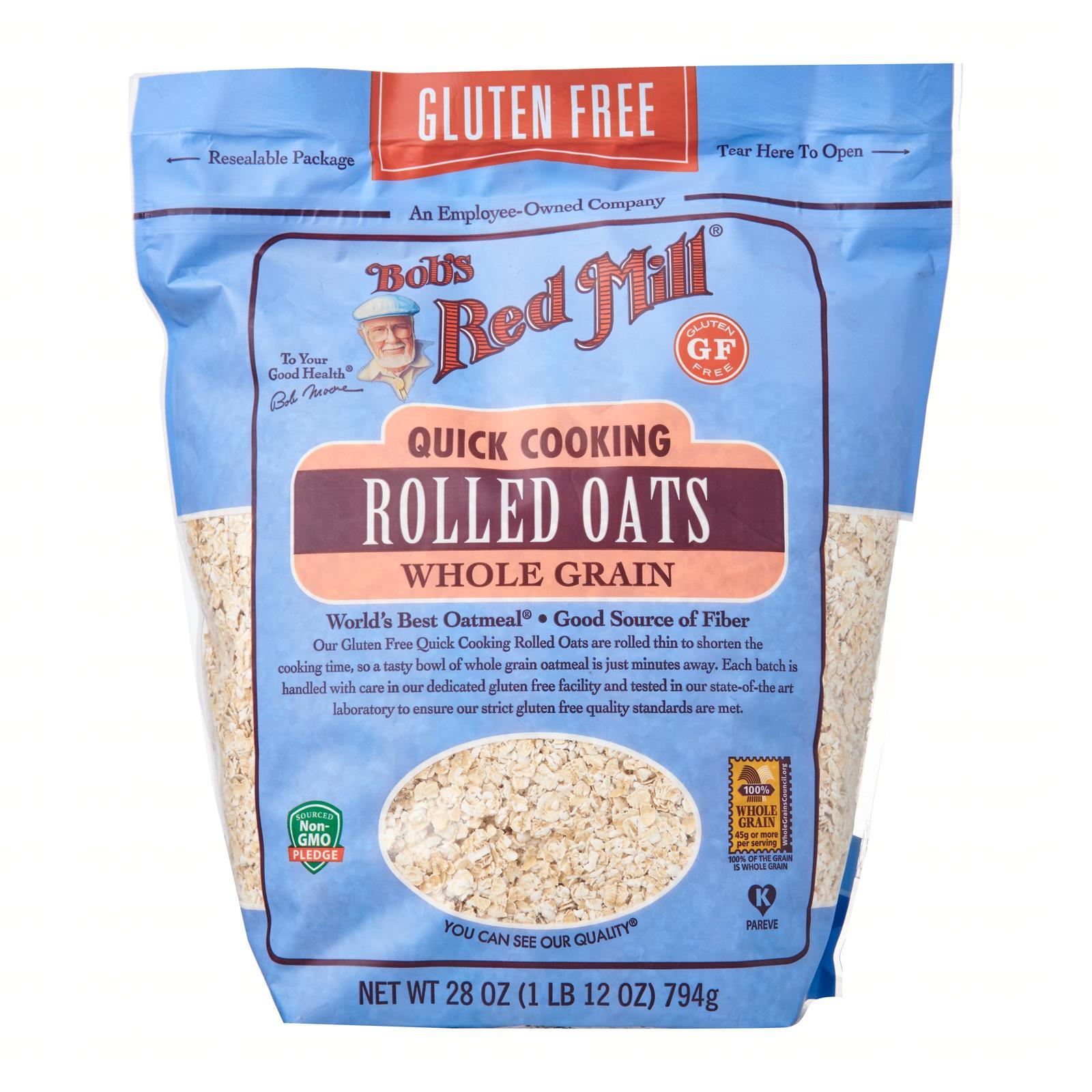 Bob's Red Mill Gluten Free Quick Cooking Rolled Whole Grain Oats