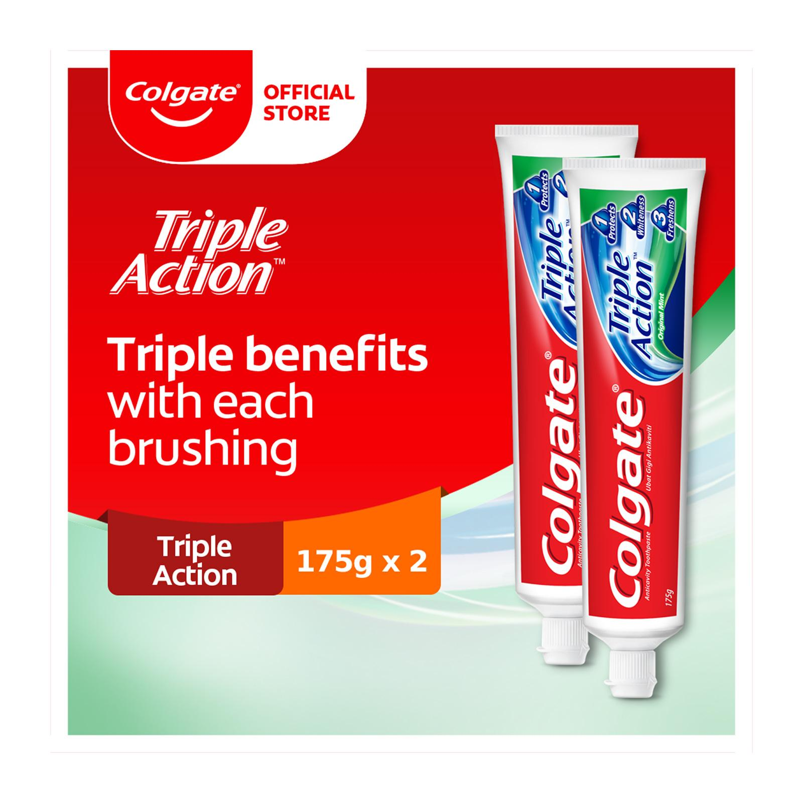 Colgate Triple Action Toothpaste Valuepack 175g x 2