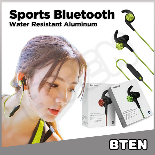 BTEN Water Resistant Sports Bluetooth Earphone with Microphone Volume Control 1MORE iBFree Singapore