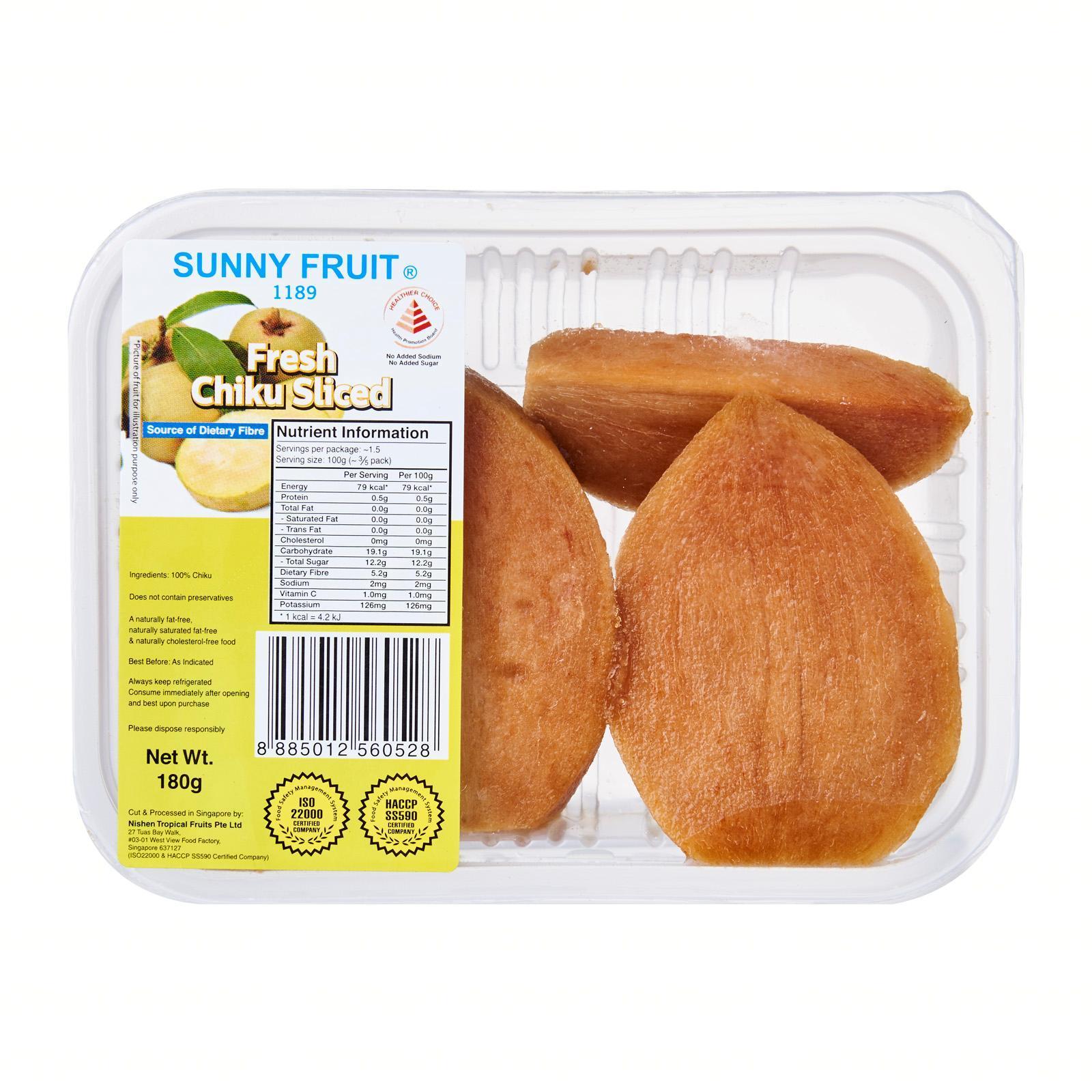 Sunny Fruit Fresh Chiku Sliced