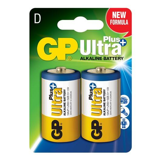 GP D size Ultra Plus Alkaline Battery x 2 pcs Battery Pack