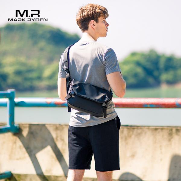 Mark Ryden Water Repellent Messengers Bag for men Black Business bag Crossbody Bags Casual Shoulder Bags