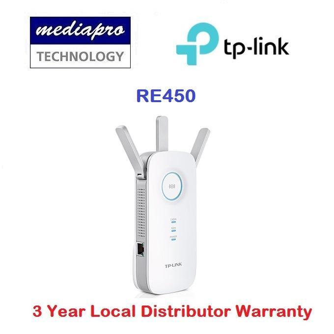 Tp-Link Re450 Ac1750 Wi-Fi Range Extender With Gigabit Port By Mediapro.
