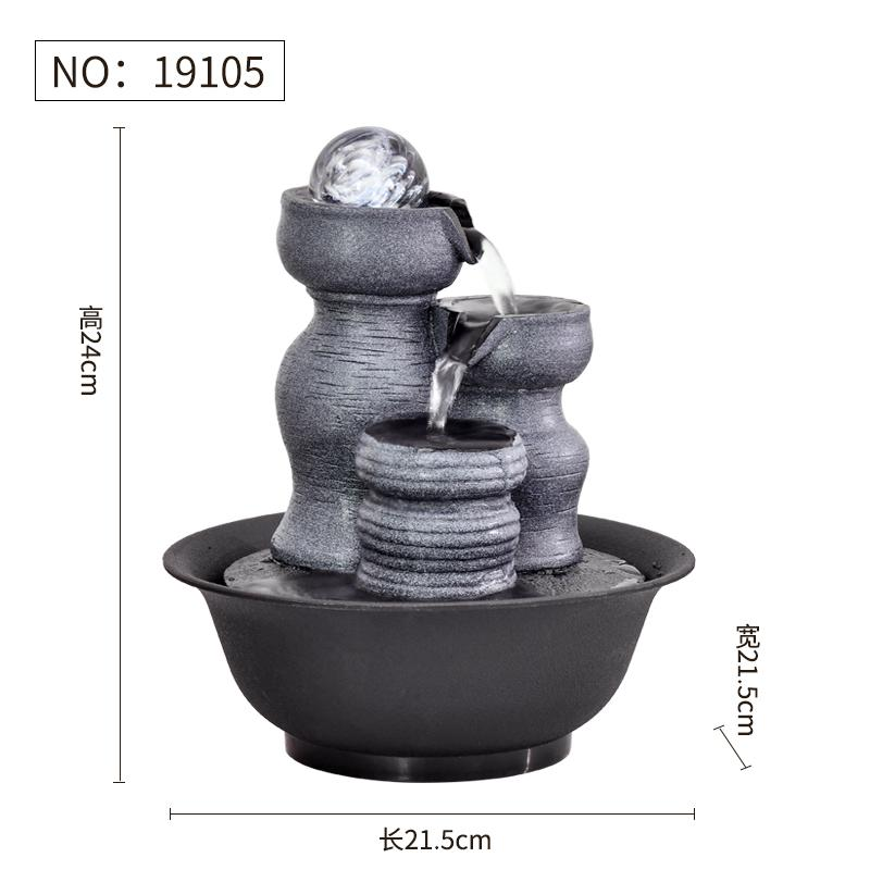 Simple Living Room Water Fountain Asian Creative Luxury Art Works Feng Shui Ball Waterscape Office Desk Top Fengshui Wheel Decoration Housewarming Opening Gift
