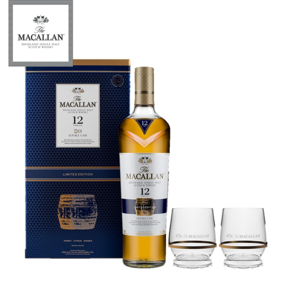 The Macallan Double Cask 12 Years Old 2018 Gift Pack By The Macallan.