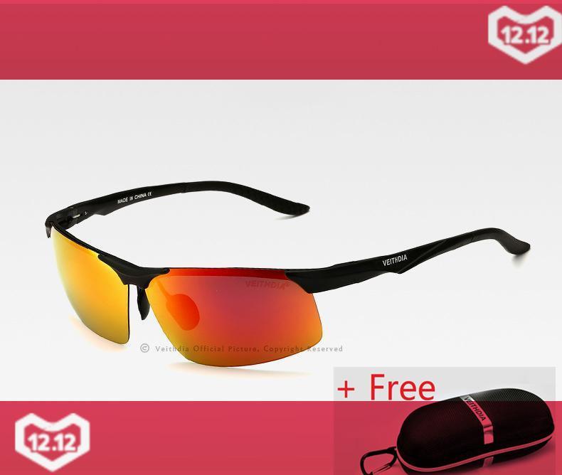 7675df1b33 Ship From Russia VEITHDIA Aluminum Magnesium Men s Polarized Sun glasses  Night Vision Mirror Eyewear Sunglasses For