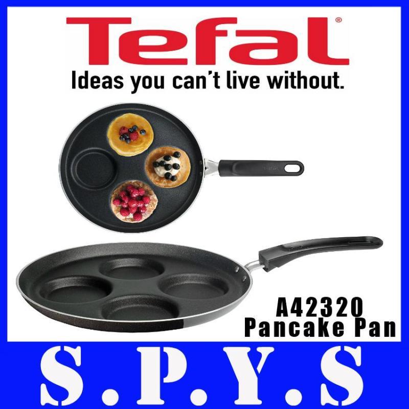 Tefal Pancake Pan. Ideal Series. Model: A42320. Non Stick. 25cm. Makes 4 mini pancakes. Made In France. Singapore