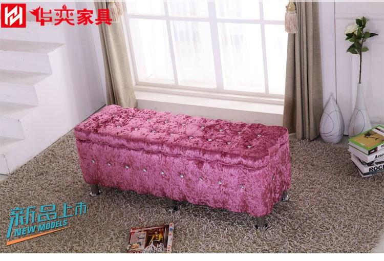 European Style Long Sofa Stool Fashion Fabric Footstool Shoe Trying Stool Bench Small Stool Comb Stool zhuang shi deng Footstool