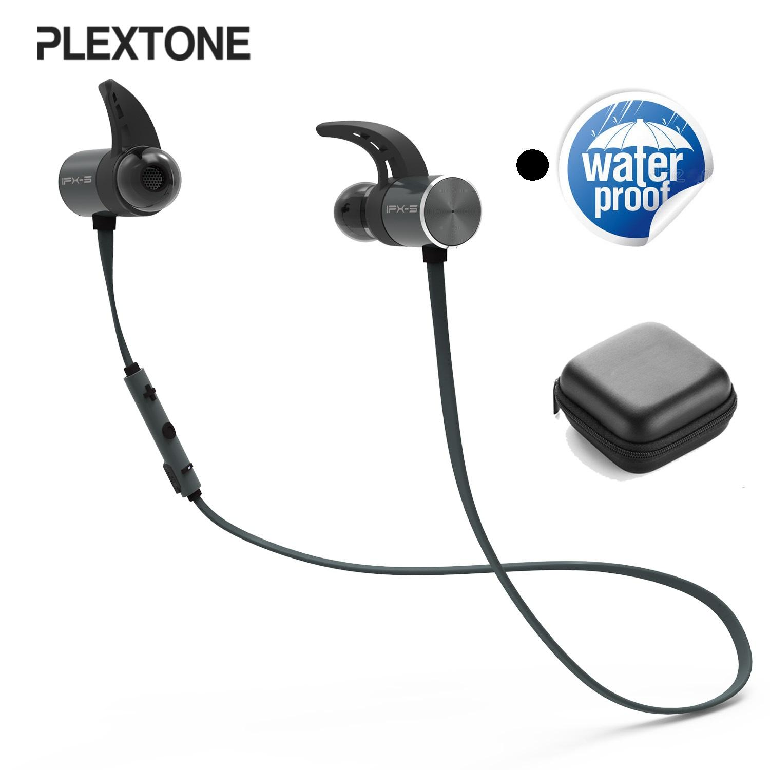 @plextone Bx343 Wireless Headphone Bluetooth Ipx5 Waterproof Earbuds Workout Magnetic Headset Earphones With Microphone For Phone Sport Dual Battery By Earphones From Shangguanlu.