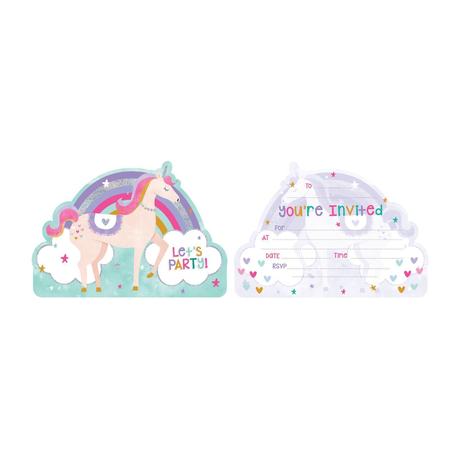 Artwrap Party Invitation - Unicorn