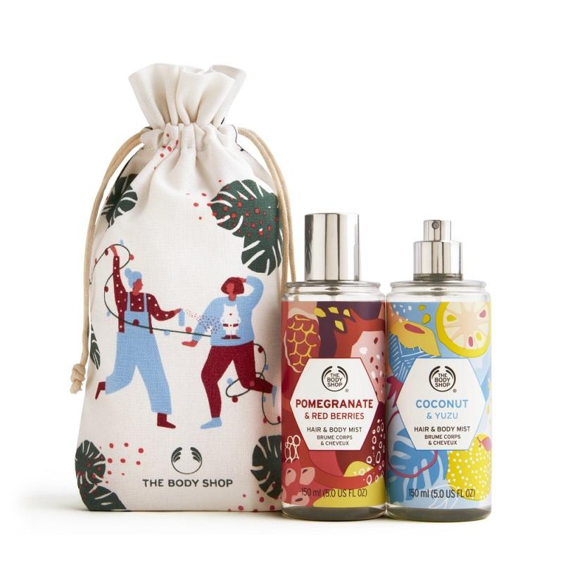 Buy The Body Shop Hair & Body Mist Little Gift Sack (Christmas Gift Set) Singapore